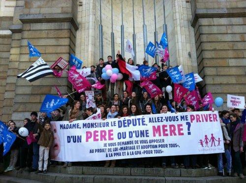 Manif à Rennes en Bretagne