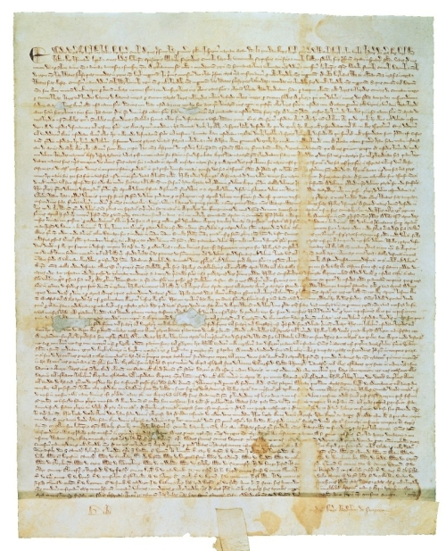 L'un des derniers exemplaires originaux en parchemin latin de la Magna Carta de 1215