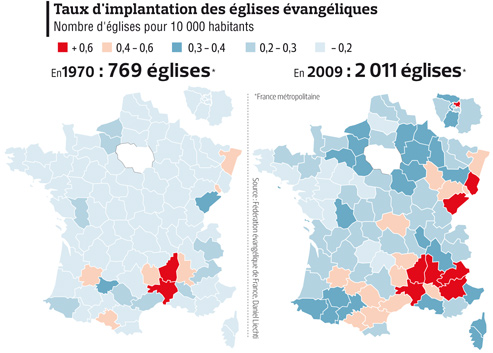 Evangelique en France : 1970 à 2009