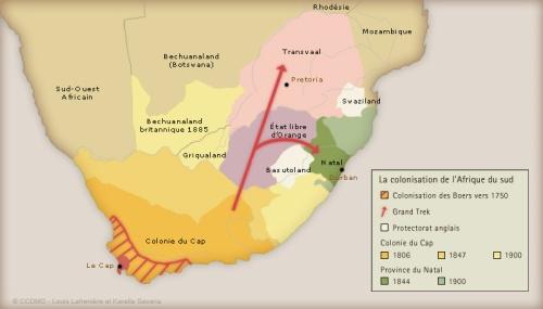 Géographie politique de l'Afrique du Sud, 1750-1900