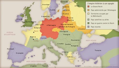 Le IIIe Reich en 1942