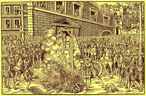 Exécution d'Anne du Bourg, un Conseiller au Parlement de Paris, le 23 décembre 1559