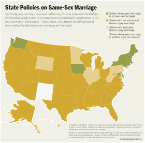 State Policies Gay Marriage 2012
