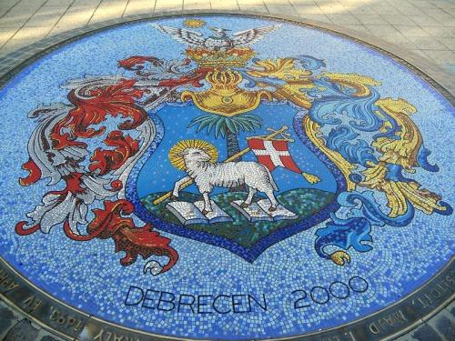 Armoiries de Debrecen en mosaïque