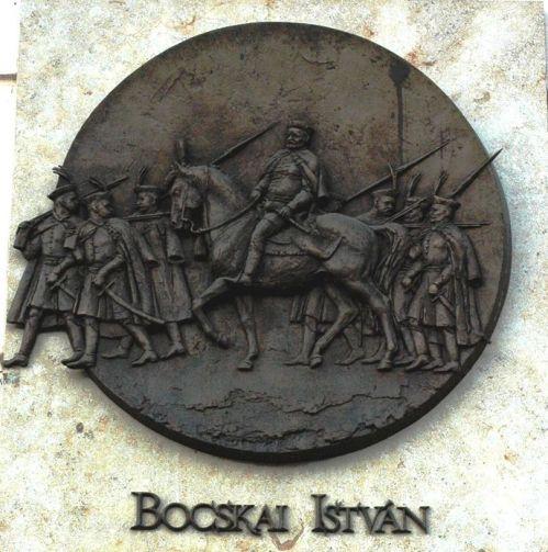 Plaque commémorative en l'honneur du prince réformé Étienne II Bocskai à Košice en Slovaquie