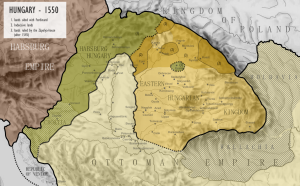 La Hongrie en 1550