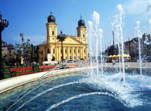 Temple réformé à Debrecen, seconde plus grande ville de Hongrie et surnommée Roma Calvinista