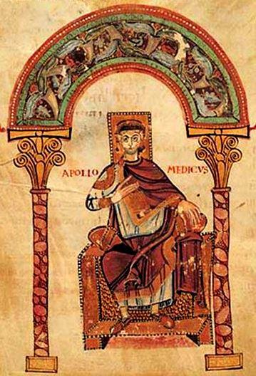 «Apollo Medicus», vers 800, Bibliothèque du Capitole, Verceil (Piémont, Italie)