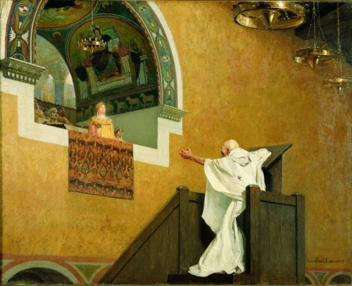 Jean Chrysostome défiant l'impératrice arienne Aelia Eudoxie