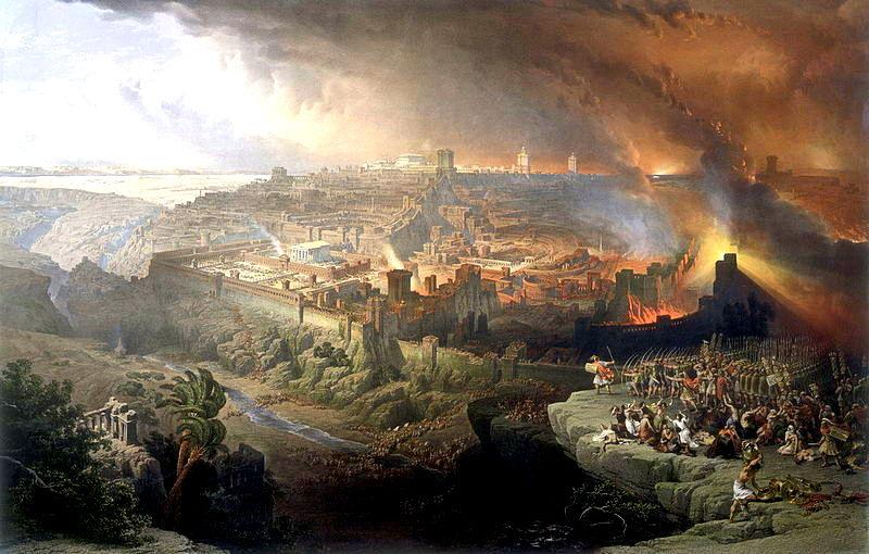Siège de Jérusalem par trois légions romaines en l'an 70 lors de la Révolte juive