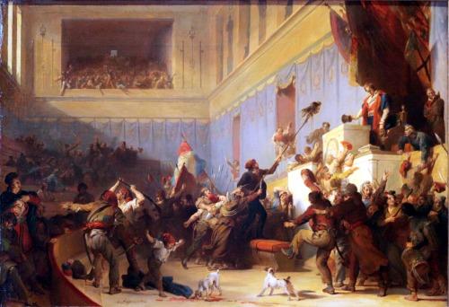 Boissy d'Anglas saluant la tête du député Féraud (20 mai 1795), par Alexandre-Évariste Fragonard, 1831