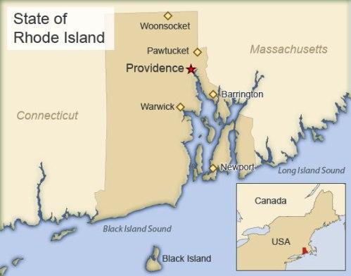 Carte du Rhode Island