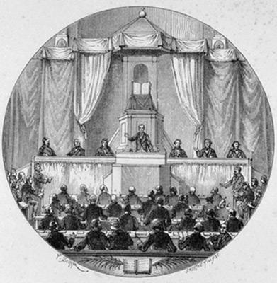 Synode national de l'Église réformée de France en 1872. Les assemblées locales doivent pouvoir parler d'une voix commune sans se faire usurper leur autorité propre.