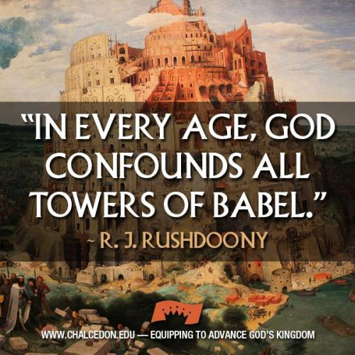 God confounds Babel