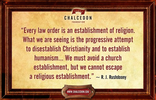 Establishment of Religion is Unescapable