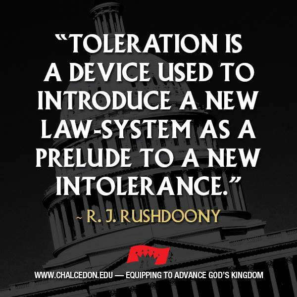 Toleration is a Device